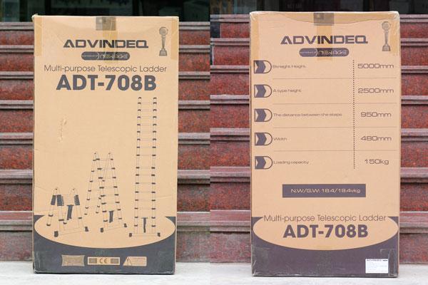 Thang nhôm rút gọn (chữ A) Advindeq ADT708B
