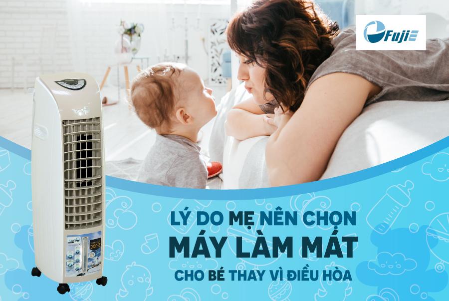 Lý do mẹ nên chọn máy làm mát cho bé thay vì điều hòa